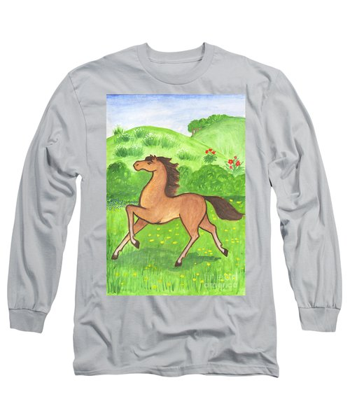 Foal In The Meadow Long Sleeve T-Shirt