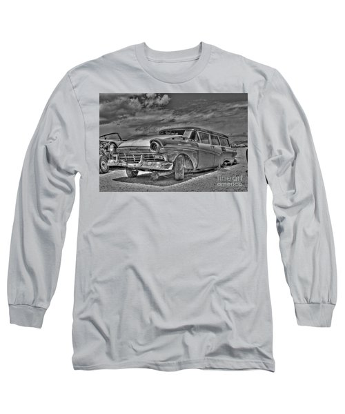 Ford Country Squire Wagon - Bw Long Sleeve T-Shirt
