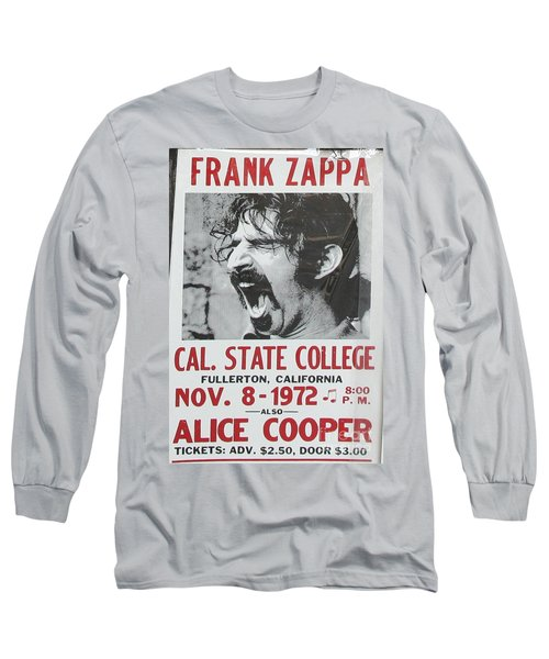 Frank Zappa Alice Cooper 1972 Poster Long Sleeve T-Shirt