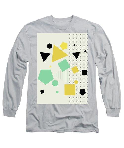 Geometric Painting 7  Long Sleeve T-Shirt