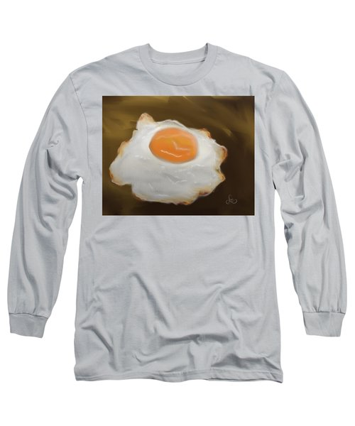 Long Sleeve T-Shirt featuring the pastel Golden Fried Egg by Fe Jones