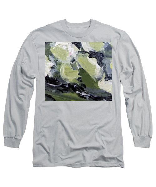 Long Sleeve T-Shirt featuring the painting Green #1 by Maria Langgle