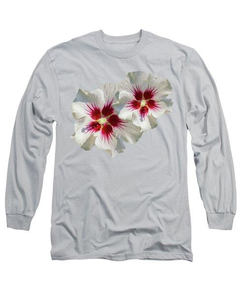 Hibiscus Flower Pattern Long Sleeve T-Shirt