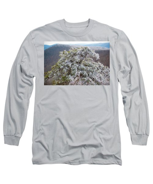 Hoarfrost On Trees Long Sleeve T-Shirt