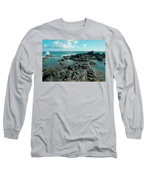 Long Sleeve T-Shirt featuring the photograph Hookipa Song Of The Sea by Sharon Mau