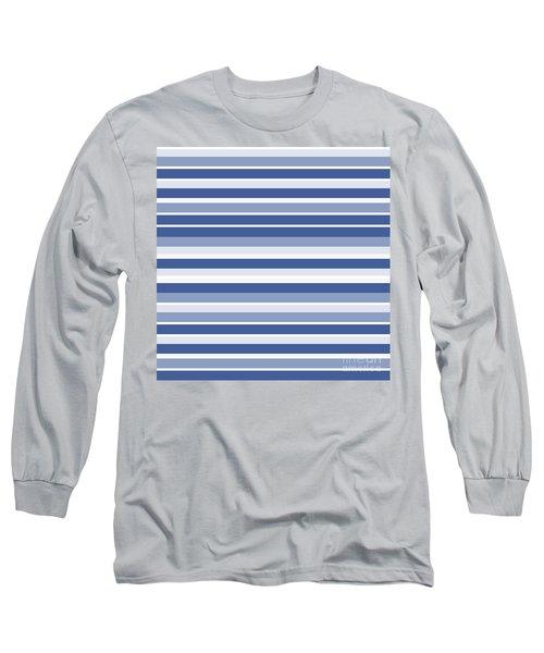 Horizontal Lines Background - Dde607 Long Sleeve T-Shirt