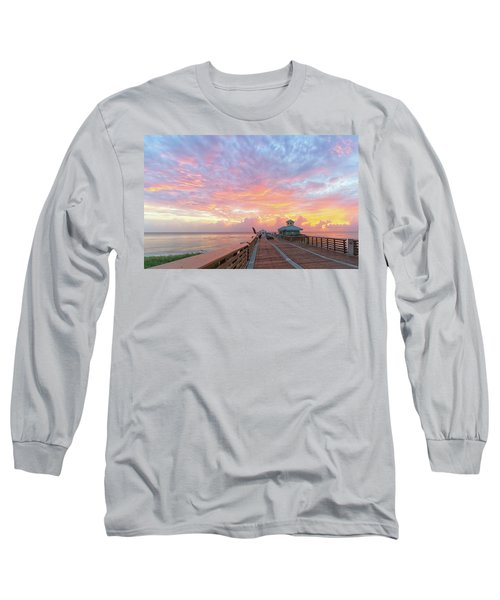 Juno Beach Pier Sunrise Long Sleeve T-Shirt