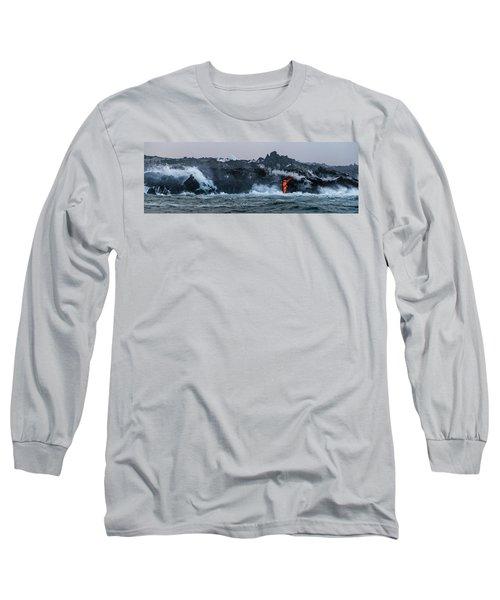 Lava Entering The Sea IIi Long Sleeve T-Shirt