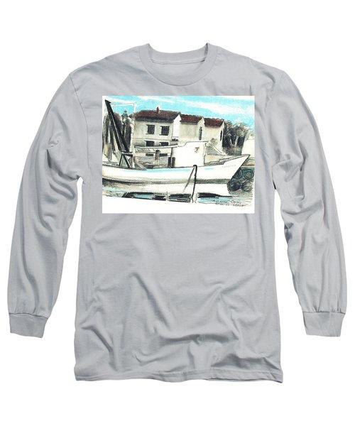 Le Barche Galleggianti Nel Mare Adriatico  Long Sleeve T-Shirt