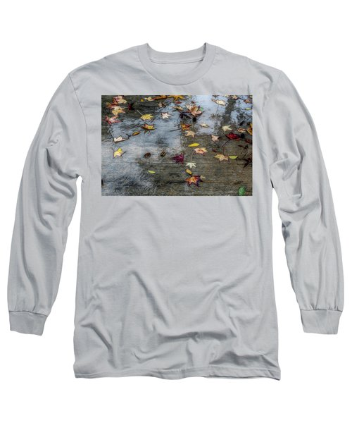 Leaves In The Rain Long Sleeve T-Shirt