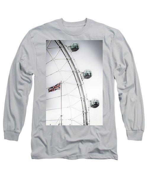 London Eye And Union Jack Long Sleeve T-Shirt