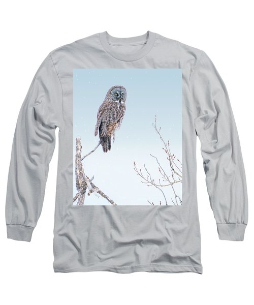 Majestic Great Gray Owl Long Sleeve T-Shirt