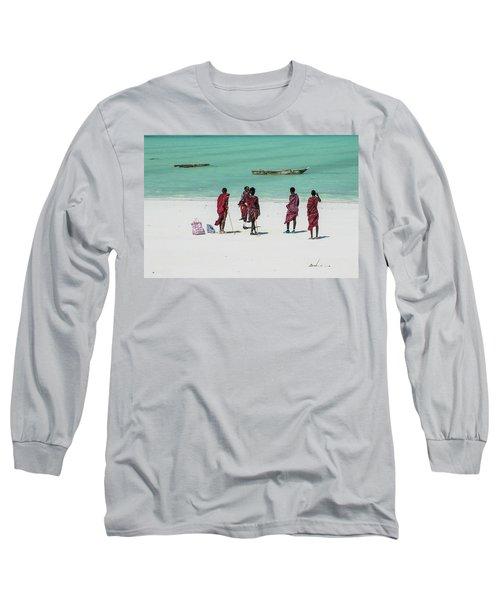 Massai At The Beach Long Sleeve T-Shirt