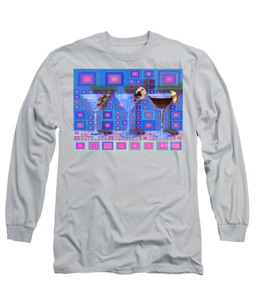 Mid Century Modern Abstract Mcm Three Martinis Shaken Not Stirred 20190127 V2a Long Sleeve T-Shirt