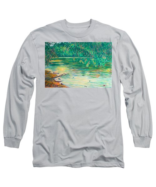 Mid-spring On The New River Long Sleeve T-Shirt