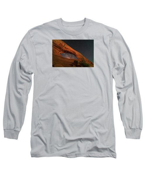 Milky Way Framed By Wilson Arch Long Sleeve T-Shirt