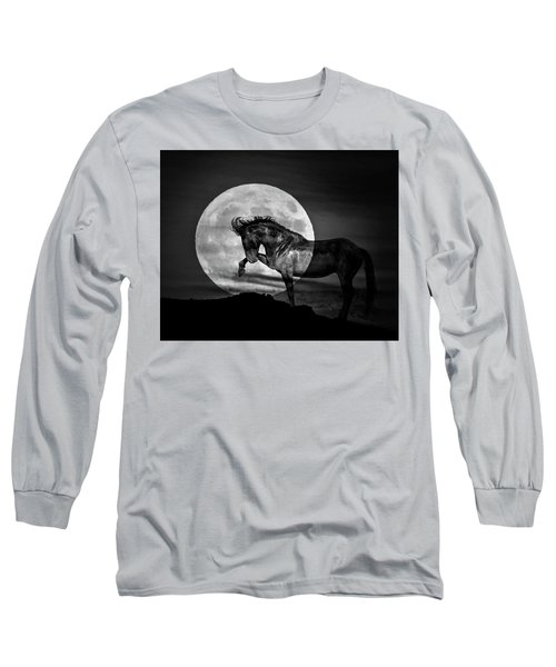 Long Sleeve T-Shirt featuring the photograph Moonlight by Mary Hone