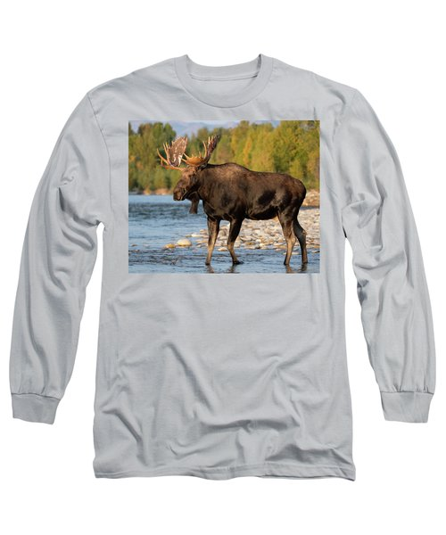 Long Sleeve T-Shirt featuring the photograph Morning At The River by Mary Hone