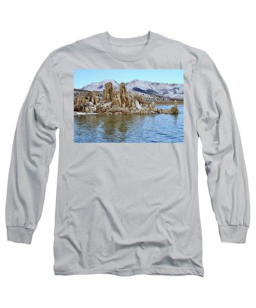 Mount Dana At Dawn  Mono Lake Long Sleeve T-Shirt
