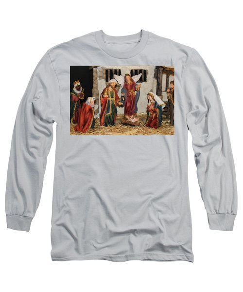 My German Traditions - Christmas Nativity Scene Long Sleeve T-Shirt