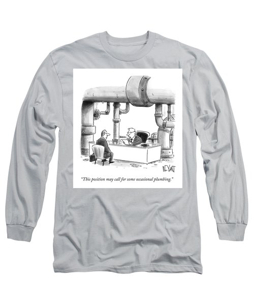 Occasional Plumbing Long Sleeve T-Shirt