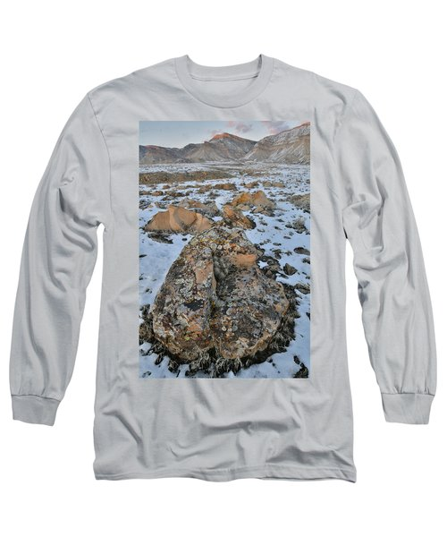 Ornate Boulder Beneath The Book Cliffs Long Sleeve T-Shirt