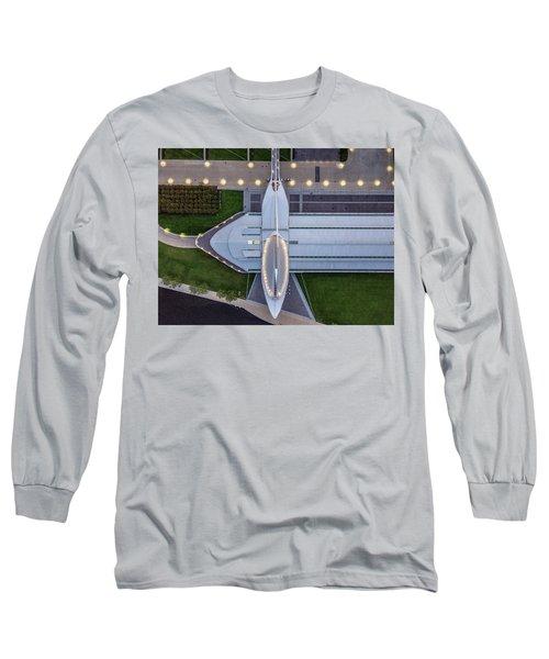 Long Sleeve T-Shirt featuring the photograph Over Milwaukee Art Museum by Randy Scherkenbach