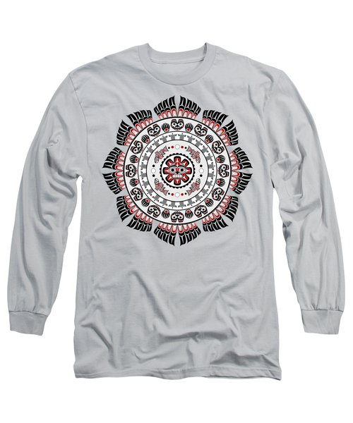 Pacific Northwest Native American Art Mandala Long Sleeve T-Shirt