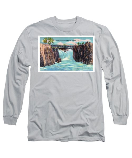 Passaic Falls And Chasm Bridge Paterson N J  Long Sleeve T-Shirt