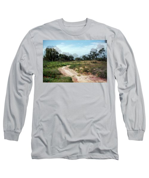 Long Sleeve T-Shirt featuring the photograph Path In Beeri Nature Reserve by Dubi Roman