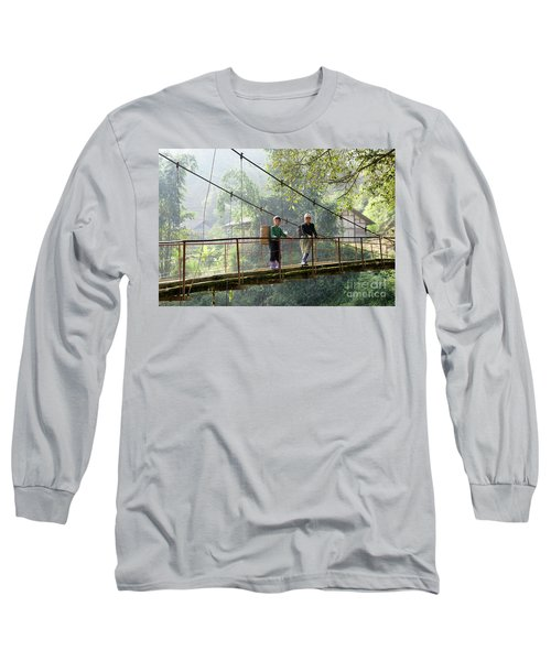 People And Children From Sapa, Mountainous Area Of Northern Vietnam In Their Daily Life. Long Sleeve T-Shirt