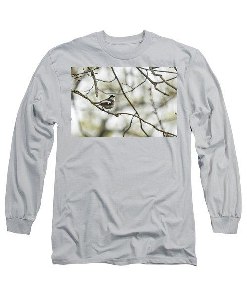 Pied Flycatcher Long Sleeve T-Shirt