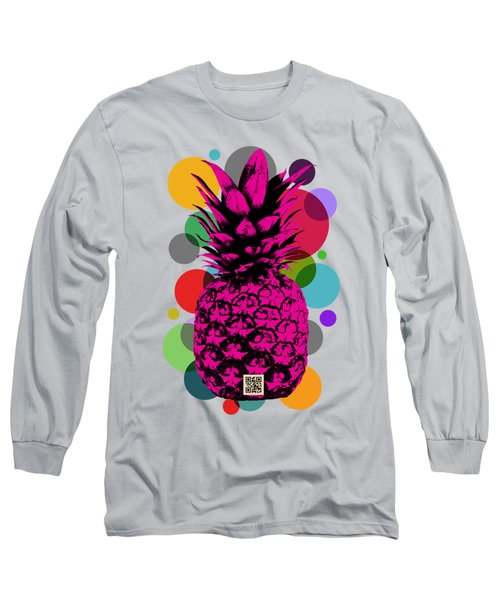 Pineapple On Vintage Paper 02 Long Sleeve T-Shirt