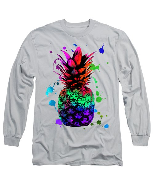 Pineapple On Vintage Paper  Long Sleeve T-Shirt