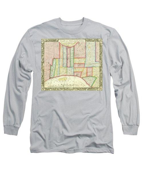 Plan Of Philadelphia, 1860 Long Sleeve T-Shirt