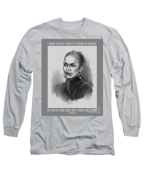 Portrait Of Frida Kahlo Long Sleeve T-Shirt