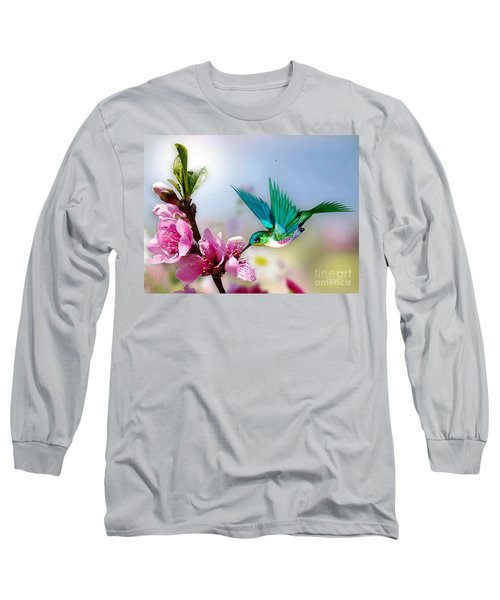 Pretty Hummingbird Long Sleeve T-Shirt