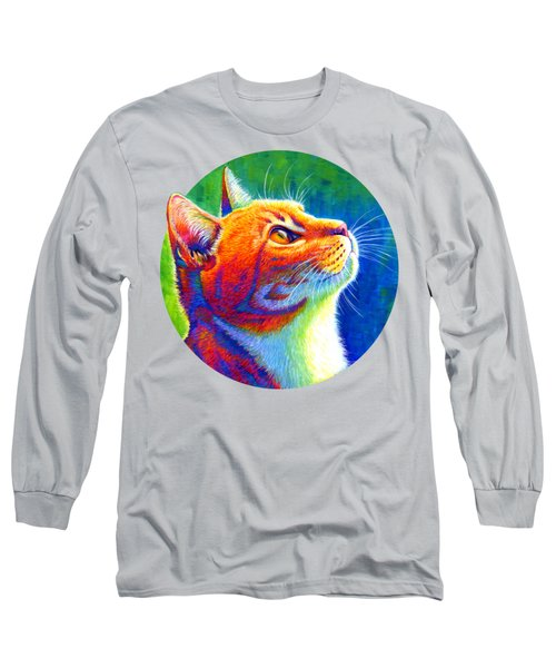 Rainbow Cat Portrait Long Sleeve T-Shirt