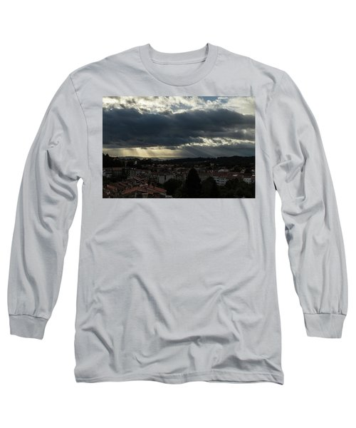 Long Sleeve T-Shirt featuring the photograph Rays Over Santiago by Alex Lapidus