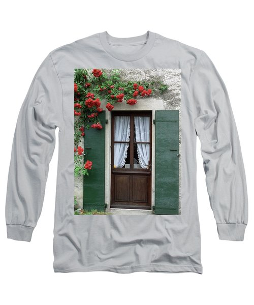 Red Rose Door Long Sleeve T-Shirt