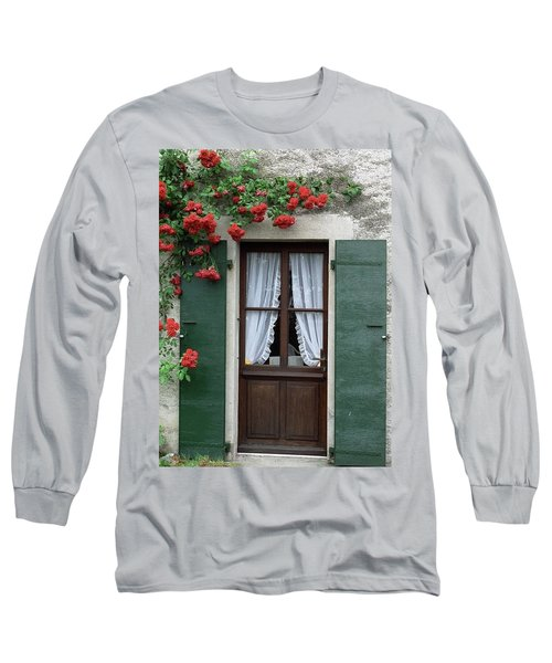 Red Rose Door Long Sleeve T-Shirt