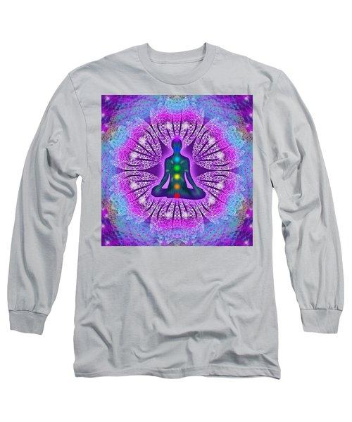 Long Sleeve T-Shirt featuring the digital art Resonance Grid by Derek Gedney