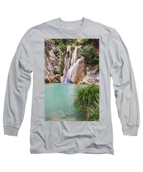 River Neda Waterfalls Long Sleeve T-Shirt