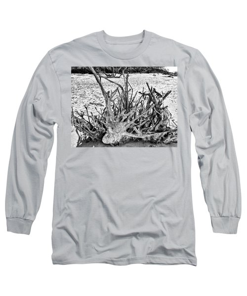 Rooted In Black And White Long Sleeve T-Shirt