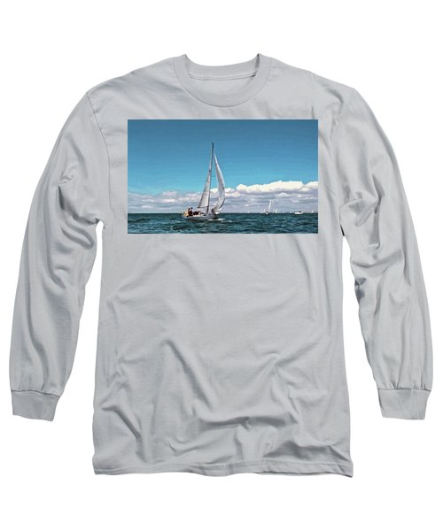 Sailing Regatta On A Brisk Summer's Day Long Sleeve T-Shirt