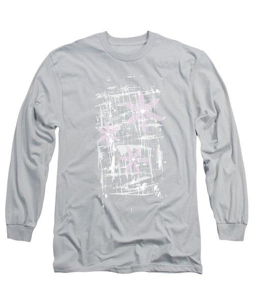 Scandinavian Design - Pink Blossoms Long Sleeve T-Shirt