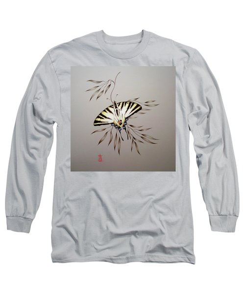 Scarce Swallowtail On Bamboo Long Sleeve T-Shirt