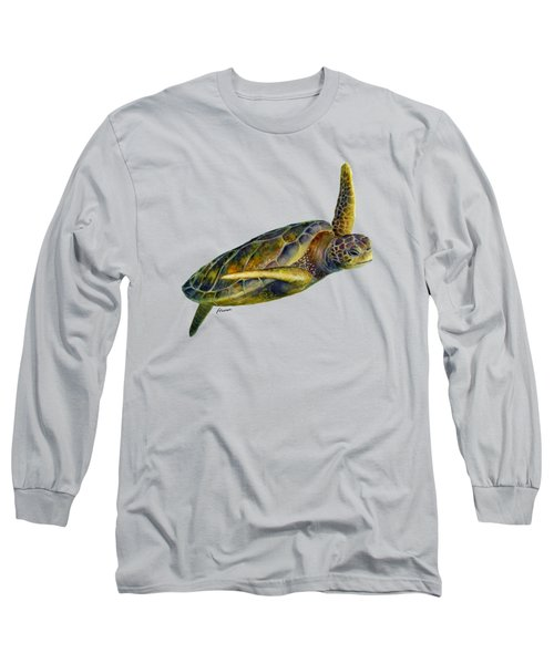 Sea Turtle 2 - Solid Background Long Sleeve T-Shirt