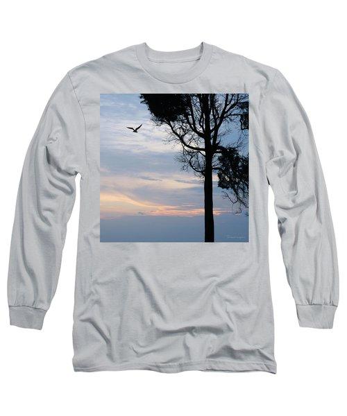 Seagull Sunset At Catawba Long Sleeve T-Shirt