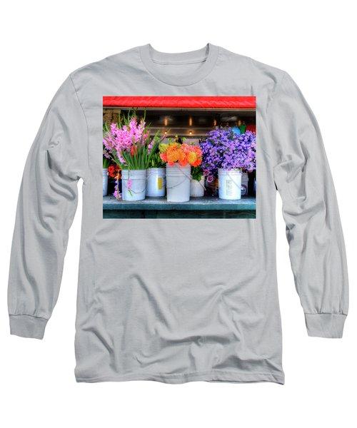 Seattle Flower Market Long Sleeve T-Shirt